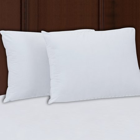Mainstays 200TC Cotton Firm Support Pillow Set of 2 in Multiple Sizes