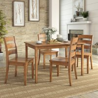 Weston Home Lexington 5 Piece Dining Set, 4 Ladder Back Chairs