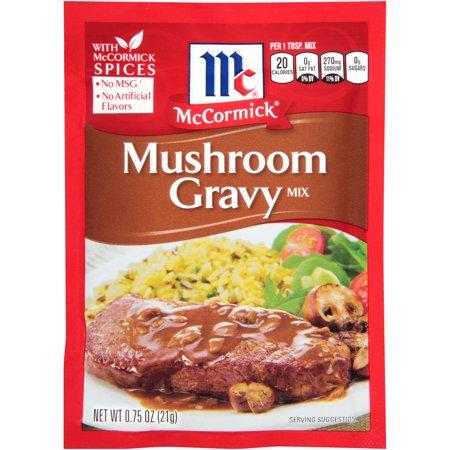 Turkey Gravy Mix ((4 Pack) McCormick Mushroom Gravy Mix, 0.75 oz )