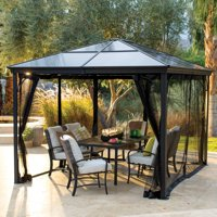 Belham Living Augusta 10 x 12 ft. Gazebo with Polycarbonate Top and Insect Netting