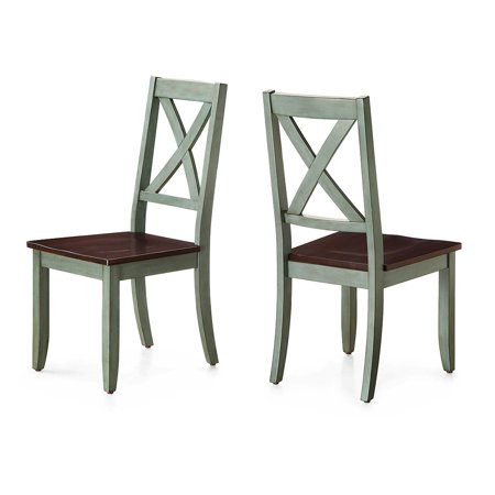 American Woods Chair (Better Homes and Gardens Maddox Crossing Dining Chair, Antique Sage (Set of 2) )
