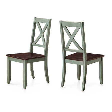 Better Homes and Gardens Maddox Crossing Dining Chair, Antique Sage (Set of 2)