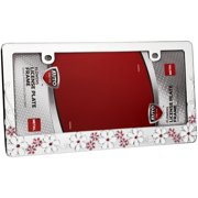 Auto Drive™ Flowers License Plate Frame