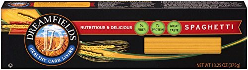 (4 pack) Dreamfield Healthy Carb Living Pasta, Spaghetti, 13.25 Oz