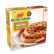 Kellogg's Eggo Nutri-Grain Whole Wheat Waffles, 24.6 Oz 20 Ct