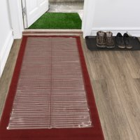 Ottomanson Multi-Grip Ribbed Clear Runner Rug Carpet Protector Mat