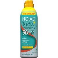 No-Ad Kids Continuous Spray Sunscreen SPF 50, 10.0 Fl Oz