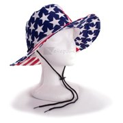 b0302c2e US Toy Stars Stripes Patriotic Cowboy Bucket Hat, Red White Blue, One-Size