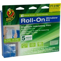 Duck Brand Roll-On Window Kit, Indoor, 5-Count