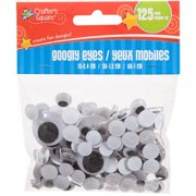 3130f2a21b498 Crafter s Square - Googly Eyes - 125 pack - Assorted Sizes By Crafters  Square