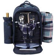 Zeny 2 Person Picnic Backpack Basket Waterproof Insulated Compartment Bag  with Blanket 7b50ec1a7d9e2