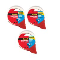 (3 Pack) Scotch Heavy Duty Shipping Packaging Tape Dispenser, 1.88 in. x 38.2 yd.
