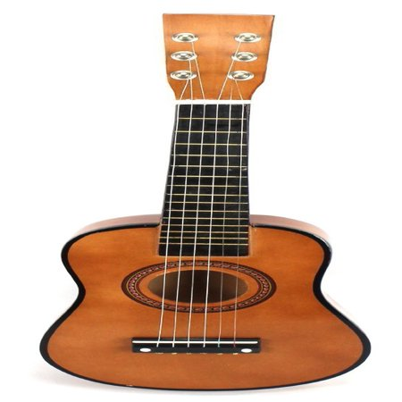 - Acoustic Classic Rock 'N' Roll 6 Stringed Toy Guitar Musical Instrument w/ Guitar Pick, Extra Guitar String (Brown)