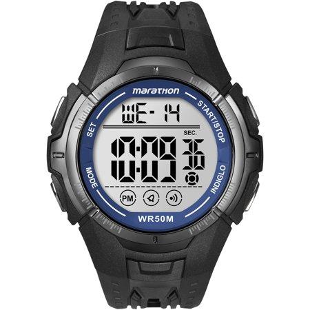 300 Black Resin Watch - Marathon by Timex Men's Digital Full-Size Watch, Black Resin Strap