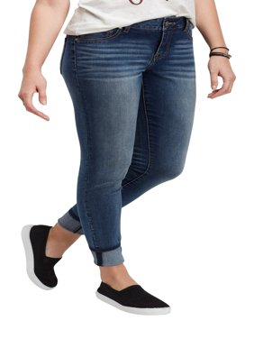 DenimFlex TM Medium Wash Cuffed Jegging