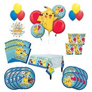20632c4a528 Pokemon Birthday Party Supplies and 8 Guest 53pc Balloon Decoration Kit