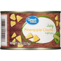 Great Value Pineapple Chunks in Light Syrup, 8 oz