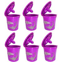 Keurig K-Cup Compatible Reusable Refillable Coffee Filter Pod, 6 Count