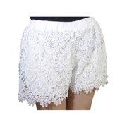9b5682b0ac1e7b Womens Fashion Casual Elastic High Waist Lace Shorts Short Hot Pants
