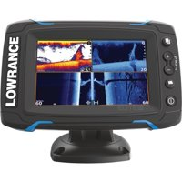 "Lowrance 000-12421-001 Elite-5Ti Touchscreen Fishfinder & Chartplotter with CHIRP Sonar, GPS, DownScan Imaging, Hybrid Dual Imaging, & 5"" Display"