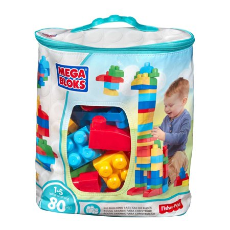Mega Bloks First Builders Classic Big Building Bag 80 Piece Set