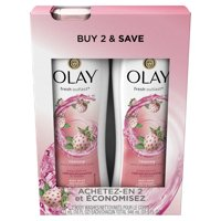 Olay Fresh Outlast Cooling White Strawberry & Mint Body Wash 16 oz Twin Pack