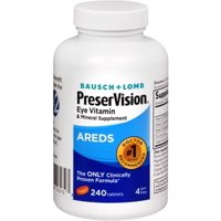 Bausch + Lomb PreserVision Eye Vitamin & Mineral Tablets, 240 Ct