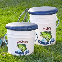 Personalized Fishing Pail, Adult