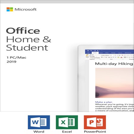 Microsoft Office Home and Student 2019 | 1 device, Windows 10 PC/Mac Key Card (Mint Software Mac)