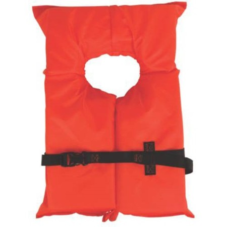 Coleman Stearns Adult Type II Life Jacket, Orange (Best Life Jacket For Canoeing)