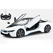 RC Highly Detailed 1/14 BMW i8 Model Car with Authentic Body Styling w/Open Doors RC Vehicles (White) Radio Controlled, Remote Controlled Vehicles, RC Car, RC BMW with Lights