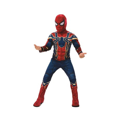 Marvel Avengers Infinity War Iron Spider Deluxe Boys Halloween Costume](Spider Man Villain Costumes)