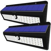 Solar Power Sensor Wall Light, Costech 62 LED Ultra Bright Wireless Security Rainproof Motion Weatherproof Outdoor Lamp for Patio ,Deck ,Yard ,Garden ,Home,Driveway (2 Pack)