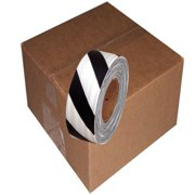 12 Roll Case of Black and White Safety Striped Flagging Tape 1 3/16 inch x 300 ft Non-Adhesive