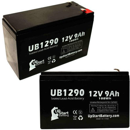 2x Pack - APC BACK-UPS PRO 420VA BP420S Battery Replacement - UB1290 Universal Sealed Lead Acid Battery (12V, 9Ah, 9000mAh, F1 Terminal, AGM, SLA) - Includes 4 F1 to F2 Terminal Adapters - image 4 de 4