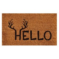 Home & More Antler Hello Doormat