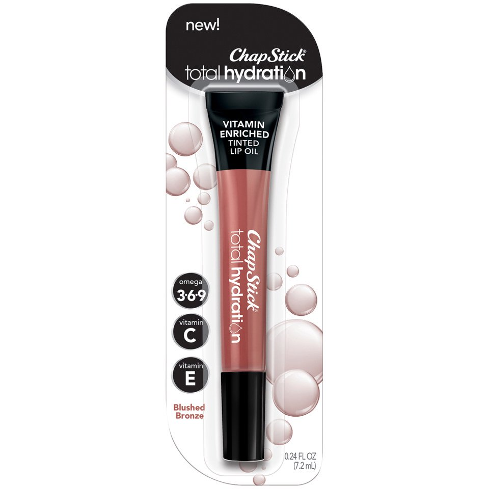 ChapStick Total Hydration Vitamin Enriched Tinted Lip Oil, Blushed Bronze
