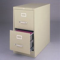 3000 Series 26.5-inch Deep 2-Drawer, Letter-Size Vertical File Cabinet, Putty