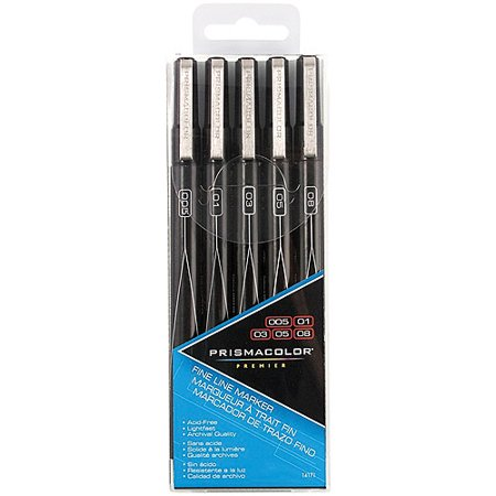Prismacolor® Premier® Fine Line Black Marker Set