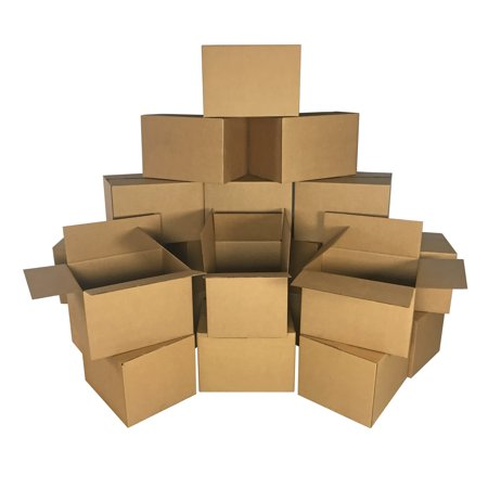 Uboxes Medium Moving Boxes, 18x14x12 in, 20 Pack, Cardboard
