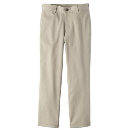 Wonder Nation School Uniform Super Soft Stretch Twill Flat Front Pants (Little Boys & Big (Timeless Travel Pant)
