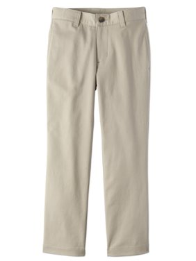 Boys Prep School Uniform Super Soft Flat Front Pants