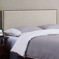 Mainstays Upholstered Headboard w/Nailheads, Multiple Sizes and Colors