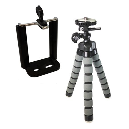 "HTC Droid Incredible 4G LTE Cell Phone Tripod Small Flexible Gripster Tripod For Smartphones - Approx 9"" H"