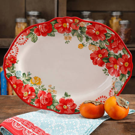 "The Pioneer Woman 14.5"" Vintage Floral Serving Platter"