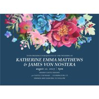 Woodland Floral Standard Wedding Invitation