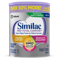 Similac Pro-Total Comfort Non-GMO with 2'-FL HMO Infant Formula with Iron Baby Formula 29.8 oz Cans (Pack of 4)