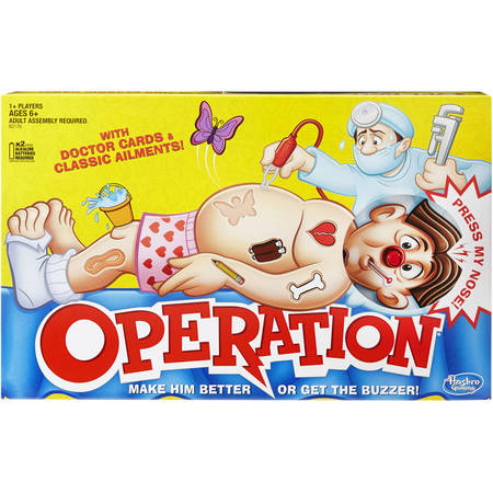 Classic Family Favorite Operation Game, Ages 6 and up - Fun Halloween Games All Ages
