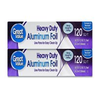 Great Value Heavy Duty Aluminum Foil, Twin Pack, 120 sq. ft