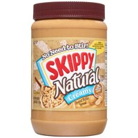 Skippy Natural Creamy Peanut Butter, 40 oz